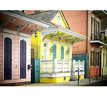 French Quarter Houses Greeting Card Photographic Print