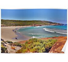 Redgate Beach on a busy day Poster