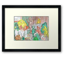 The Workplace Christmas Function Framed Print