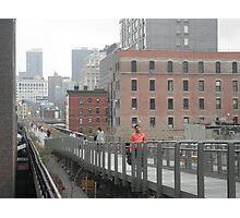 Walking Orange on the Highline Photographic Print