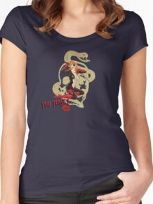 Molotov War Pin Up Bombshell Women's Fitted Scoop T-Shirt