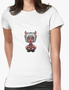 Demon Hipster Chick  Womens Fitted T-Shirt