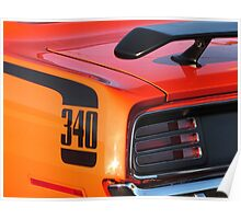 1970 Plymouth 340 'Cuda Tail  Poster