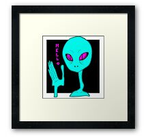 Alien Greeting Framed Print