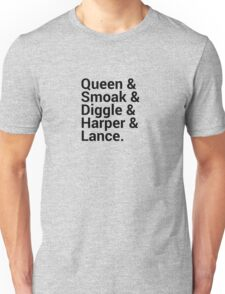 Arrow Names (Green Arrow) Unisex T-Shirt