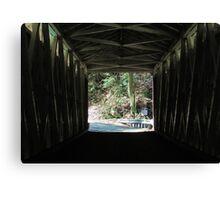 Inside the Covered Bridge Canvas Print