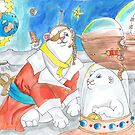 Space Pirate Polar Bears by Avril E Jean