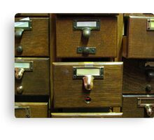 Used Card Catalog (Full of Toys) Canvas Print