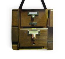 Used Card Catalog (Full of Toys) Tote Bag