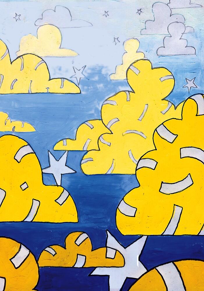 Star Clouds 1999 by robertemerald