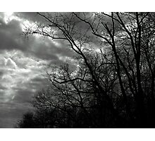 A Cloudy Day in Black and White Photographic Print
