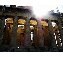 Sun Flare at the Parthenon Photographic Print