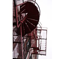 Escape Stairs of Steel Photographic Print