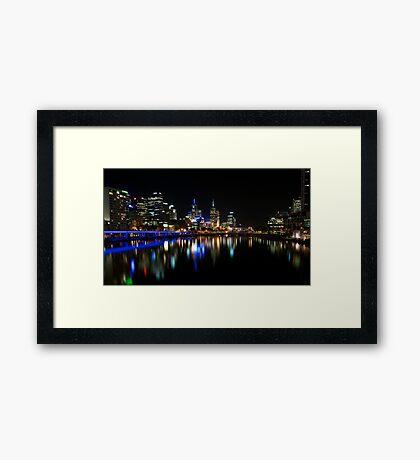 Melbourne by night Framed Print