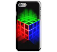 Glowing Rubix Cube iPhone Case/Skin