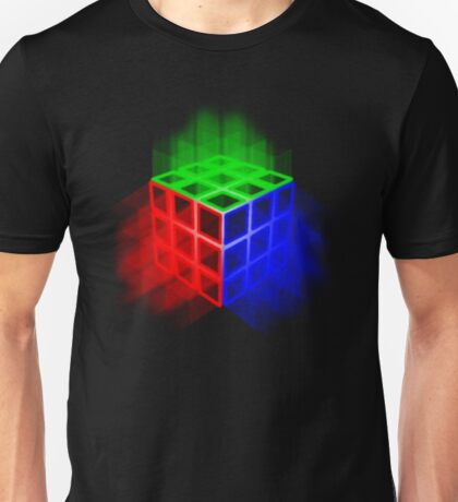 Glowing Rubix Cube Unisex T-Shirt