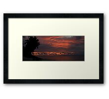 Bloody clouds Framed Print