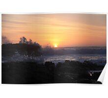 Splash at sundown. Poster
