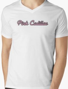 Pink Cadillac Mens V-Neck T-Shirt
