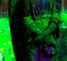 She looks like an Angel- Green Sticker