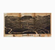 Panoramic Maps Oneonta NY One Piece - Long Sleeve