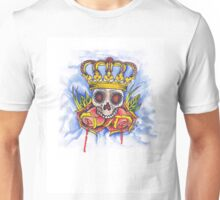 Skull Crown and Roses Unisex T-Shirt