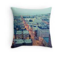 Powell Street at 6am Throw Pillow
