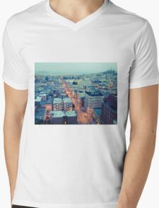 Powell Street at 6am Mens V-Neck T-Shirt
