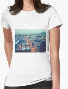 Powell Street at 6am Womens Fitted T-Shirt