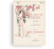 A SKY OF ROSES (vintage illustration) Canvas Print