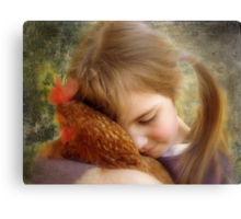 """""""A Child's Tenderness....."""" Canvas Print"""