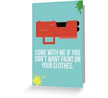 Community Paintball Print Greeting Card