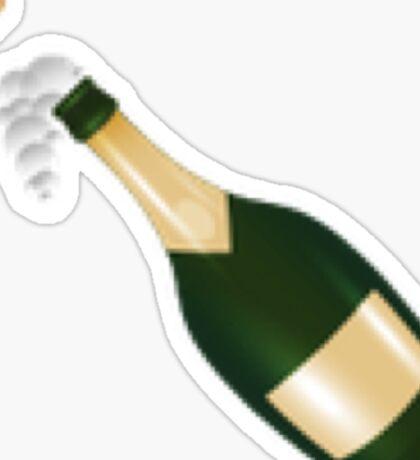 Pop the Champagne! New Emoji   Hipster/Tumblr/Trendy Meme Sticker