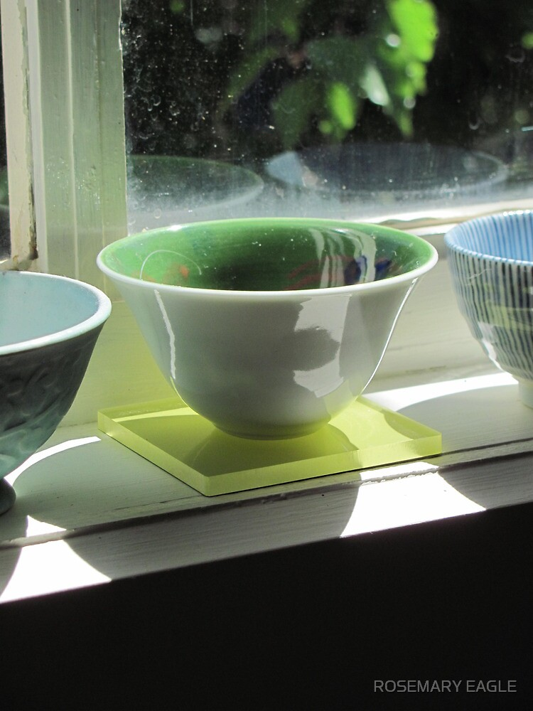 Bowl on Studio Window Sill by ROSEMARY EAGLE