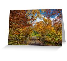 Autumn Scenery. Greeting Card
