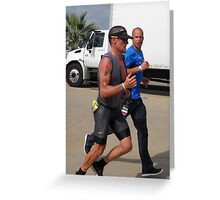 Lance Armstrong and Chris Lieto Greeting Card