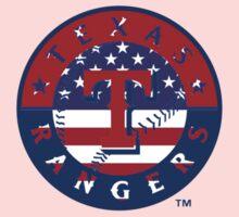 Texas Rangers US Flag Logo Kids Clothes