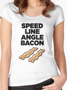 Speed Line Angle Bacon Women's Fitted Scoop T-Shirt