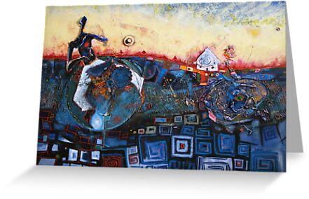 Dancing Drummer by Eddy Aigbe
