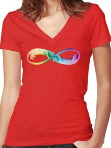 Spectrum Infinity Cats Women's Fitted V-Neck T-Shirt