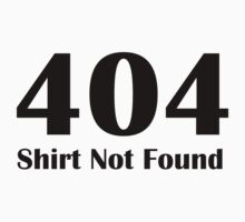 404 eror shirt by nadil
