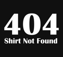 404 error shirt by nadil