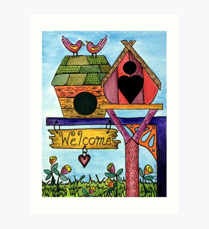 Birds are Welcome Art Print