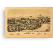 Panoramic Maps Port Henry NY Canvas Print