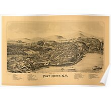 Panoramic Maps Port Henry NY Poster