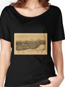 Panoramic Maps Port Henry NY Women's Relaxed Fit T-Shirt