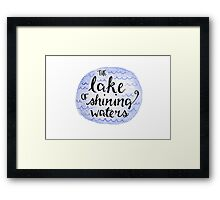 The Lake of Shining Waters Framed Print