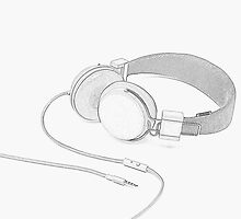 sketched headphones by liccleme