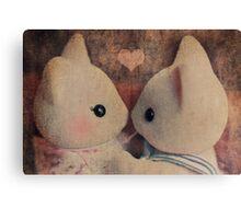 Kitty Kisses Canvas Print