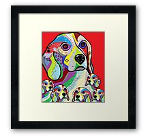 Beagle and Babies Framed Print